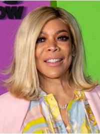 """Straight 14"""" Full Lace Shoulder Length Without Bangs Grey New Wendy Williams Wigs"""