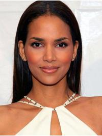 "Synthetic Lace Front Long Without Bangs Exquisite 20"" Halle Berry Wigs"