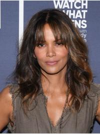 """Synthetic Capless Long With Bangs Incredible 16"""" Halle Berry Wigs"""