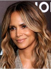 "Synthetic Lace Front Long Without Bangs Suitable 16"" Halle Berry Wigs"
