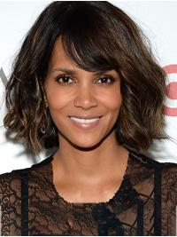 """Synthetic Lace Front Chin Length Bobs Popular 12"""" Halle Berry Wigs"""