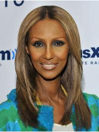 """Synthetic Full Lace Shoulder Length Without Bangs Designed 14"""" Iman Wigs"""
