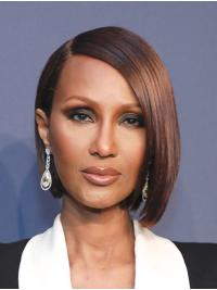 """Synthetic Lace Front Chin Length Bobs Sleek 10"""" Iman Wigs"""