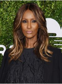 """Synthetic Lace Front Shoulder Length Without Bangs Top 14"""" Iman Wigs"""