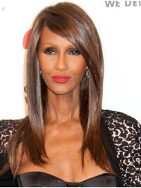 """Synthetic Capless Long Without Bangs Trendy 16"""" Iman Wigs"""