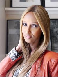 """Synthetic Lace Front Long Without Bangs Comfortable 16"""" Iman Wigs"""