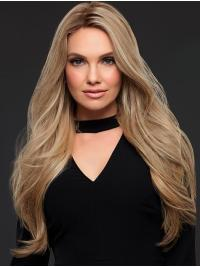 This wig has extra long layers of luxurious human hair plunging nearly to the waist, this style's hand-tied, light-density cap and SmartLace front create stunning movement and natural verisimilitude.