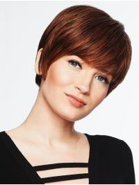 "A classic ""boy cut"", this wig features textured bangs and all over precision tapered layers that blend into a neck-hugging nape."