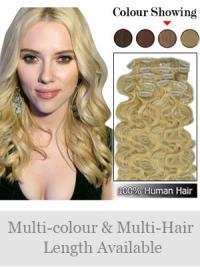 100% Silky Remy Human Hair-Wavy
