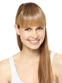 Blonde Remy Human Hair Top Clip In Hair Extensions Wigs