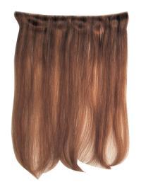 Convenient Straight Auburn Human Hair Wig Extension