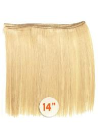 Remy Human Hair Straight Blonde Extensions For Short Hair