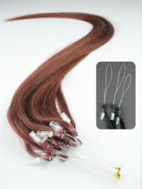 Auburn Beautiful Micro Loop Ring Hair Extensions