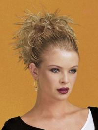 Blonde Synthetic Straight Stylish Wigs And Hairpieces