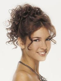 Synthetic Curly Ideal Hairpieces And Half Wigs