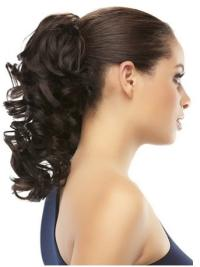 Brown Curly Synthetic Suitable Ponytails