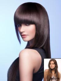 Auburn Ideal Clip In Wigs Human Hair