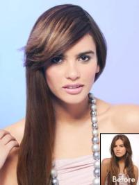 Brown Synthetic Fashionable Womens Wigs Wigs & Hairpieces