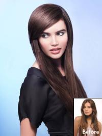 Auburn Gorgeous Clip In Human Hairpieces For Woman