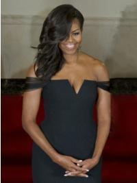 100% Hand-Tied Black Celebrity Wigs First Lady Wigs
