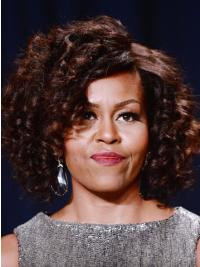 Capless Classic Aubrun Celebrity Human Hair Wigs First Lady Wigs
