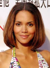 Bobs Chin Length Halle Berry Hairstyle Wigs Online