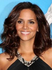 Layered Shoulder Length Remy Human Hair Top Halle Berry Inspired Wigs