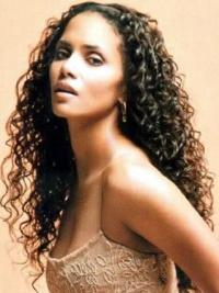 Black Curly Remy Human Hair 26 Inches Halle Berry Style Hair Wig