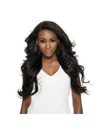 Black Wavy Remy Human Hair Convenient Full Lace Hand Tied Wigs