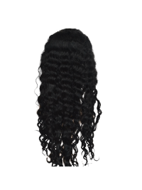 Black Wavy Full Lace Remy Hair Wigs