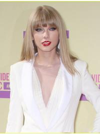 With Bangs Straight Shoulder Length Stylish Taylor Swift Wig