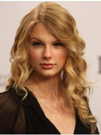 100% Hand-Tied Exquisite Taylor Swift Human Wavy Long Blonde Hair
