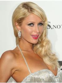 Blonde Without Bangs Long Fashion Paris Hilton Wigs