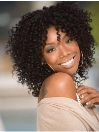 Suitable Kinky Lace Front Jennifer Hudson Human Hair Wigs Shoulder Length Layered