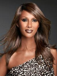 """Lace Front Synthetic Auburn Long 20"""" Straight Iman Wigs"""