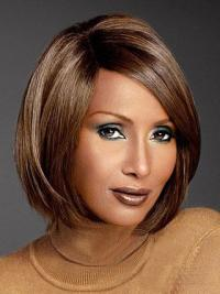 Lace Front Auburn Synthetic Suitable Iman Hair Wigs