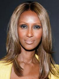 Female Celebrity Wigs Lace Front Brown Synthetic