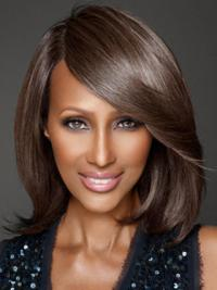 "Remy Human Hair 12"" Shoulder Length Lace Front Gorgeous Iman Wigs"