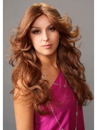 Layered Wavy Auburn Fabulous Lace Front Human Hair Wigs Long