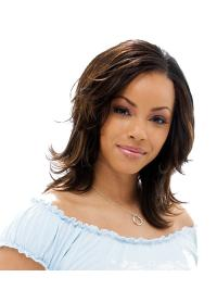 Layered Shoulder Length Comfortable African American Hair Wigs