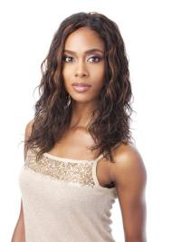 Indian Remy Hair Without Bangs Wavy Shoulder Length Auburn Best African American 100% Human Hair Wigs