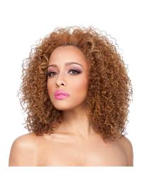 This is a gorgeously curly wig with a natural and modern appearance.