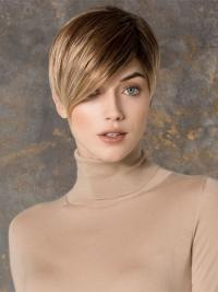 Amazing Boycuts Straight Cropped Blonde Synthetic Wig Lace Front