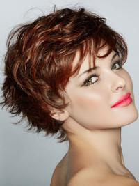 Designed Boycuts Lace Front Women'S Short Wavy Synthetic Hair Wigs