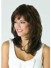 Gorgeous Layered Wavy Shoulder Length Synthetic Monofilament Wigs