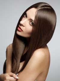 Brown Without Bangs Straight Ideal Top Quality Front Lace Wigs