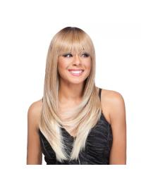 With Bangs Straight Long Hairstyles Tasia Alexis Wigs
