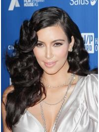 Lace Front Without Bangs Long Popular Kim Kardashian Wear Wigs