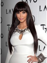 Lace Front With Bangs Long Natural Kim Kardashian Wig 2018
