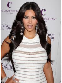 Black Long Remy Human Hair Affordable Kim Kardashian Wigs